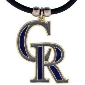 - MLB Colorado Rockies Rubber Cord Necklace