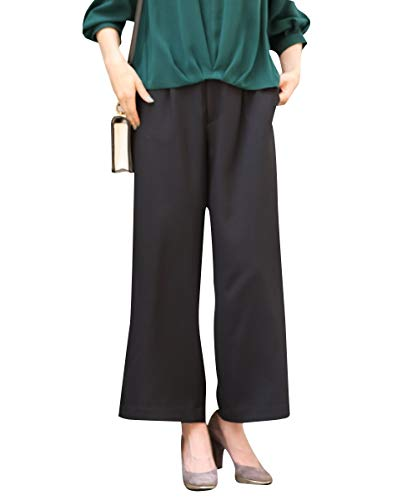 Nissen (닛) 정장 바지 세미 와이드 팬츠 정말 미친다 다기능 9 분 길이 【 변경 짠 다람쥐 ピィ 시리즈 】 (상하 별도 판매) 여성용 / nissen suit pants semi-wide pants very extend ing multi-function 9 minutes length [change weave rispi se...