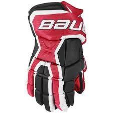 Bauer Vapor X80 Glove - Senior Red, Black