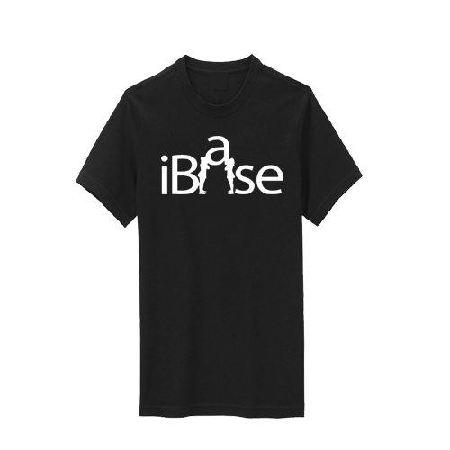 T-shirt Practice Youth Black (Chosen Bows Black iBase T-Shirt, White Print, Youth Large)