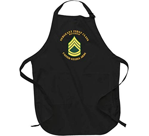 Army - Sergeant First Class - Retired - Apron - Black