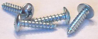 8 X 2 Self-Tapping Screws Phillips / Truss Head / Type A / Steel / Black Oxide / 1,500 Pc. Carton