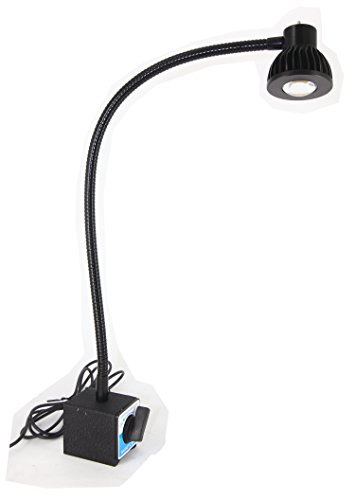 LED Task Lamp Magnet base 110v-240v AC 24'' Flexible tube UL List