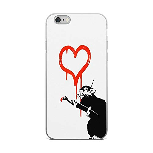 iPhone 6 Plus/iPhone 6s Plus Case Clear Anti-Scratch Banksy - Love Rat, Classic Cover Phone Cases for iPhone 6 Plus, iPhone 6s -
