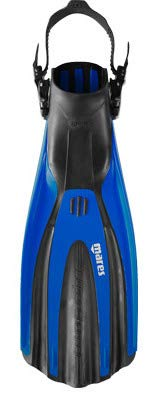 Mares Avanti Superchannel OH Open Heel Scuba Fins, Black Regular