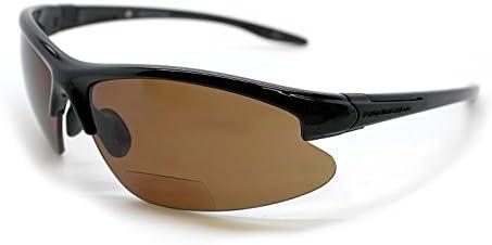 b3e672094cfb Renegade Patented Bifocal Polarized Reader Half Rim Men s Fishing Sunglasses  100%UV Protection (Glossy