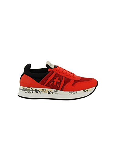 Cuero Liz1933 Negro rojo Premiata Zapatillas Mujer YIExw0Eq5p