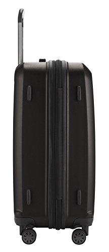 HAUPTSTADTKOFFER® 42 Liter (ca. 55 x 37 x 24 cm) · Handgepäck · XBERG HK-8280 · TSA Schloss · Farbe: GRAPHIT MATT