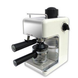 Bene Casa 4-Cup Espresso Maker with Frother, White by Bene Casa