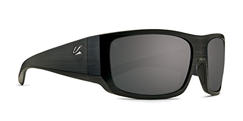 Kaenon Mens Malaga Polarized Sunglasses, Pinstripe / Grey 12 Black Mirror, One Size Fits All