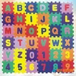 EVA Educational Puzzle Foam Mat Interlocking Alphabet & Number - 36 Small Blocks (5'' by 5'' Each block)