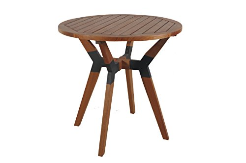 Outdoor Interiors 30'' Eucalyptus & Metal Bistro Table by Outdoor Interiors
