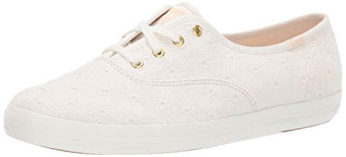Keds Women's Champion Eyelet Sneaker, White, 6