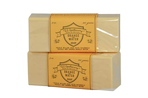 US Apothecary Orange Flower Water Triple Milled Bar Soap - 2 Bars
