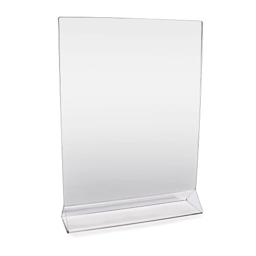 New Star Foodservice 23039 Acrylic Table Menu Card Holder, 8-Inch by 11-Inch, Clear, Set of 12