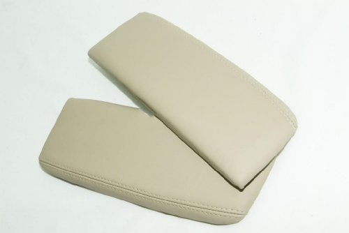 acura-rl-leather-ivory-tan-center-console-armrest-covers-leather-part-only