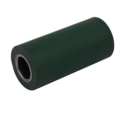 uxcell 40mmx20mmx85mm Rubber Coated Iron Pinch Roller Rolling Wheel Green by uxcell