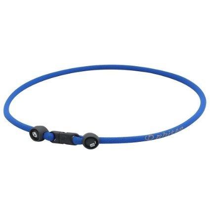 (Phiten S1 Aqua-Metal Titanium Infused Necklace - Blue )