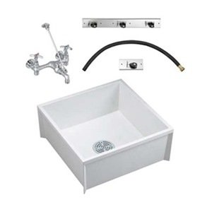 Mop Sink Kit, White, 24 In L, 24 In W - Bathroom Sinks