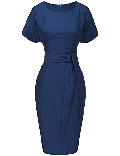(GownTown Women's 50s 60s Vintage Sexy Fitted Office Pencil Dress)