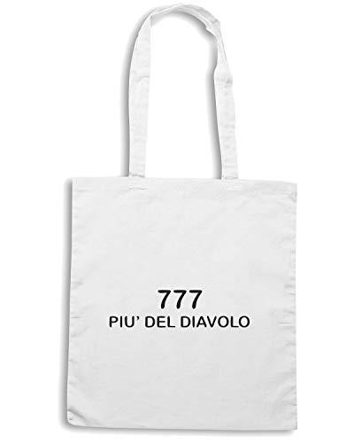 TDM00010 777 DIAVOLO Bianca PIU Shirt Speed DEL Shopper Borsa wgqTxOI
