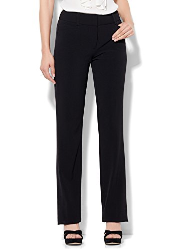 New York & Co. 7Th Avenue Pant - Straight Leg - Signature - 14 Black