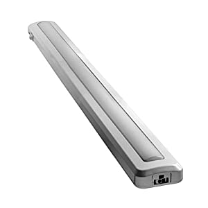 GE Enbrighten 24 Inch Premium LED Under Cabinet Light Fixture, Plug-In Light Bar, Linkable, Convert to Direct Wire, 3000K Soft Warm White, 1165 Lumens, Steel Housing, Dimmable High/Off/Low, 26936