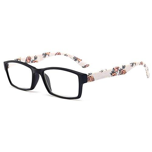 Inlefen Occhiali da lettura rettangolari con disegni floreali Montature per occhiali Eyewear per uomo e donna WQjIva