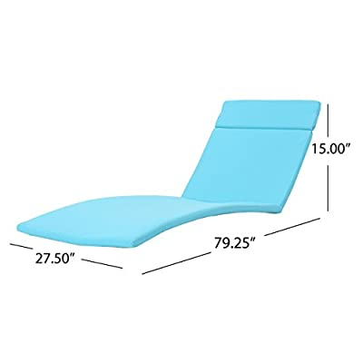 """Christopher Knight Home 300978"""" Sienna CKH Outdoor Chaise Lounge Cushion, Blue"""