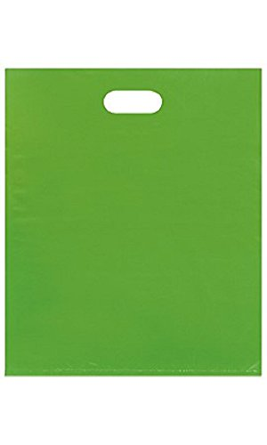 Large Low Density Clearly Lime Merchandise Bags - Case of 500 by STORE001