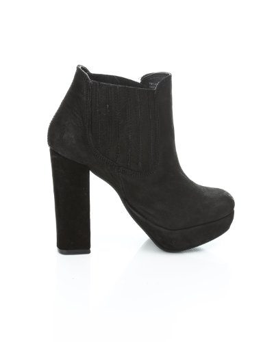 Pieces Pieces Bottines en cuir Noir cuir en Bottines Noir Pieces wfv5q5nX