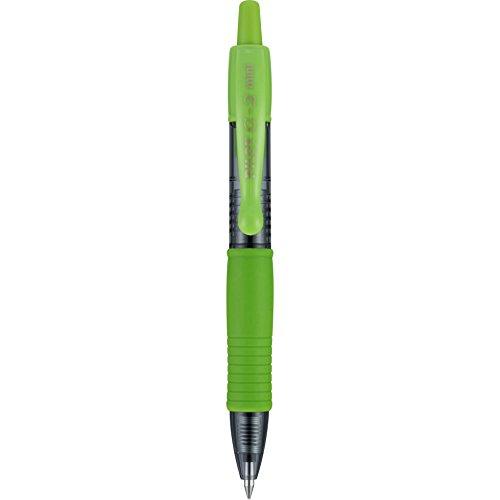 Pilot G2 Mini Premium Retractable Gel Ink Rolling Ball Pens, Fine Point, Lime Green Ink, Box of 12 (Green Mini Pen)