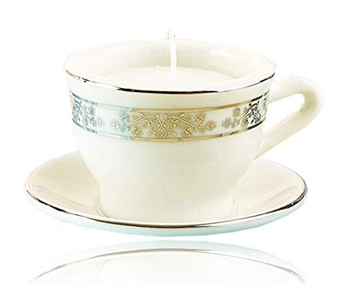 Porcelain Baby Shower - Kate Aspen Teacups & Tea Lights Miniature Porcelain Tea Light Holder, Perfect Wedding Favors, Bachelorette Favors, Baby Shower Favors or Bridal Shower Favors- 6 Sets