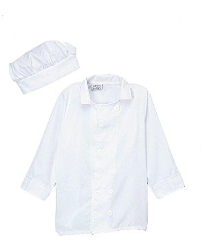 Size 6//8 Kids White Chef Jacket /& Hat