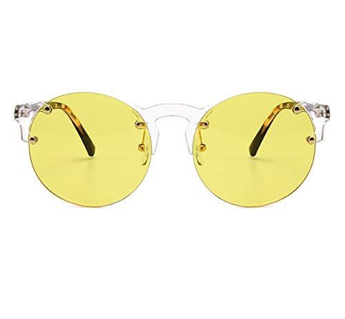 gothique lunettes soleil sans de de Huateng Vintage mode et cadre de Jaune hommes femmes Lunettes soleil classique wtxSYOqS4