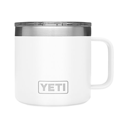 YETI Rambler 14oz Mug, White (Fishing Mug Travel)