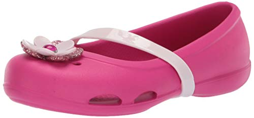 Crocs Lina Charm Flat Ballet, Candy Pink, 11 M US Little Kid