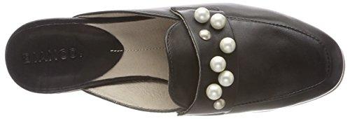 Bianco 10 Pearl Mule Mocassins Shoe black Noir Femme qx6U4qSAn