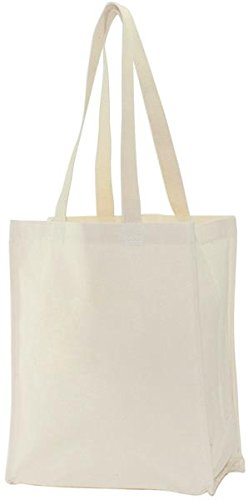 Lienzo Corp Canvas Tote Bag 14 pulgadas x 11 pulgadas x 5-inch-natural, otros, multicolor