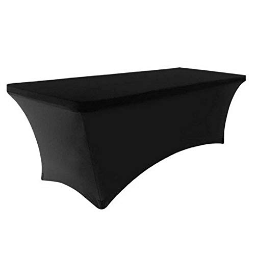 Mikash 6ft Spandex Fitted Stretch Tablecloth Rectangular Table Cover Elastic Protector | Model TBLCLTH - 21