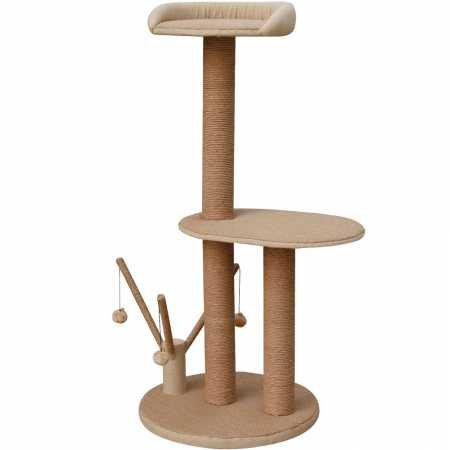 PETPAL 3 Level Jute Made Cat Furniture with Interactive Toys, 20''x20''x46'' by PETPAL