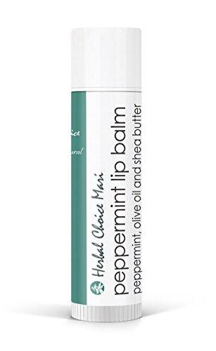 Herbal Choice Mari Natural Lip Balm, Peppermint; 0.2floz