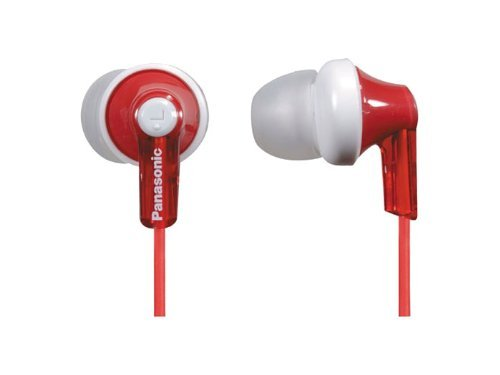 Panasonic Headphones RP HJE120 R Ergonomic Comfort Fit
