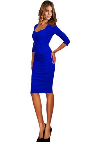Blaue business kleider