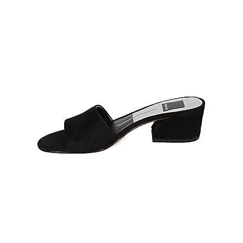 4de96b53fa1c best Women Low Block Heel Slide - Open Toe Chunky Heel Sandal - Open Toe  Mule