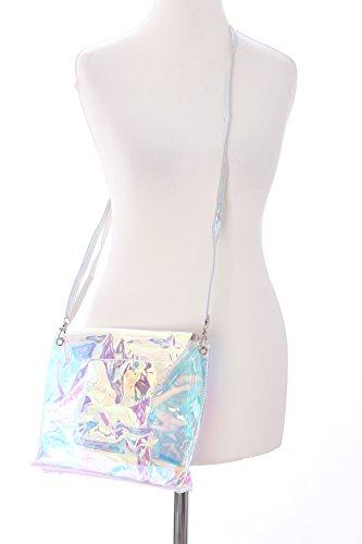 LB-84 Hologram Transparent Herz Kunststoff Kult Pastel Goth Lolita Bag Japan Harajuku Tasche