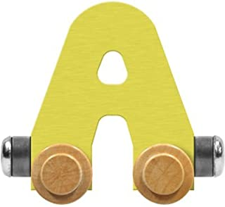 product image for Maple Landmark NameTrain Pastel Letter Car A - Made in USA (Yellow)