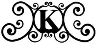 (24 Inch House Plaque Letter K)