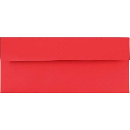 JAM PAPER #10 Business Colored Envelopes - 4 1/8 x 9 1/2 - Red Recycled - ()