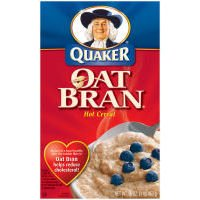 Pepsico Quaker Hot Cereal, Oat Bran, 16 Ounce -- 12 per case.